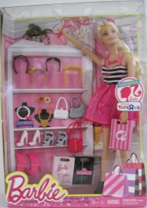 2013 Barbie Favorites Fashionista Fashion Doll w Shopping Bag and Accessories Shoes