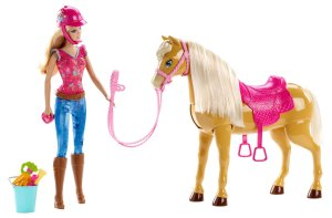 2014 Barbie Feed and Cuddle Tawny Horse and Doll Playset flyer
