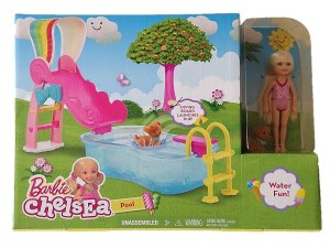 2016 Barbie Chelsea Pool - Water Fun!