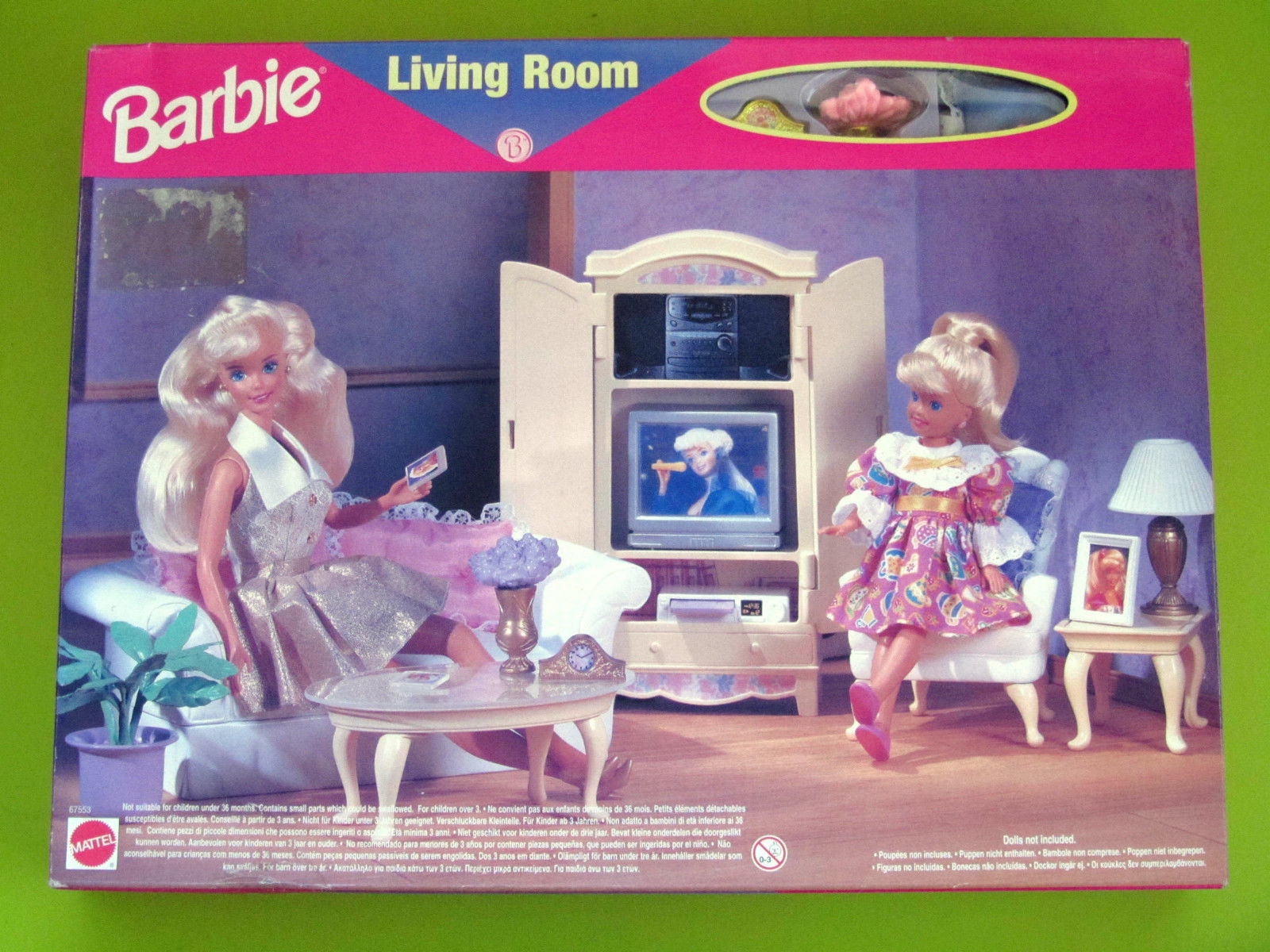 ... 1600 × 1200 Pixels. #7604 RARE NRFB Target Blue Box Barbie Living Room  Collection