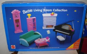 #7604 RARE NRFB Target Blue Box Barbie Living Room Collection