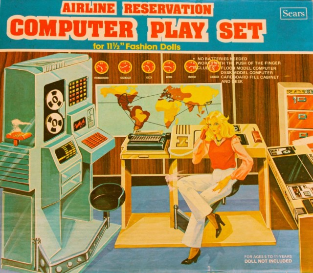 AirLine Reservation Computer Playset - Sears