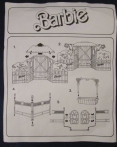 ARCO Mattel Barbie BLINKING BEAUTY CORRAL Playset HORSE STABLE Diorama Prancer instruction