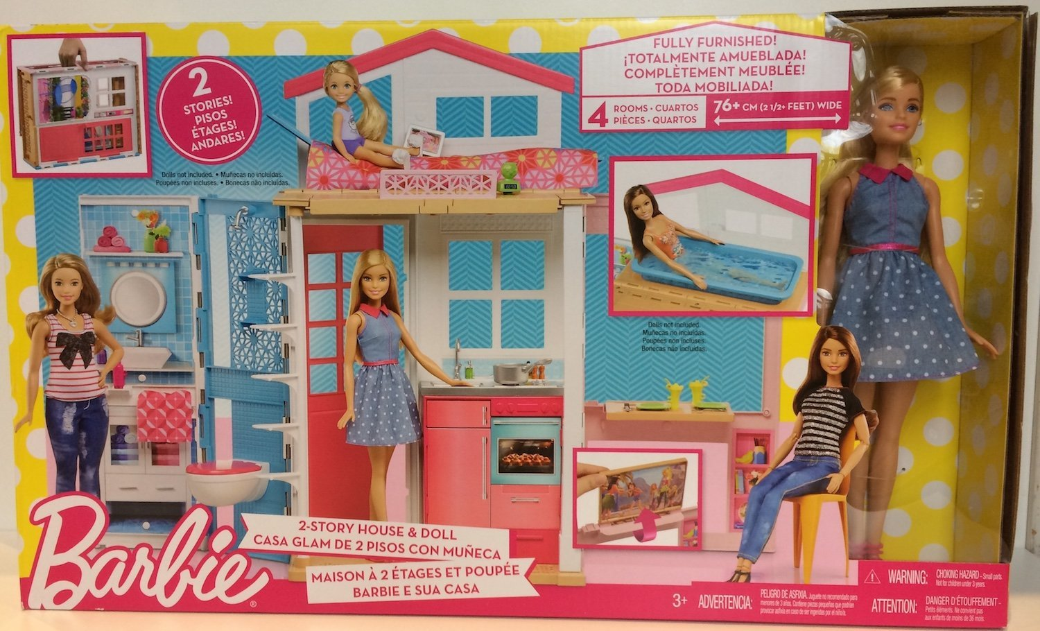 Barbie 2 Story Doll House Doll And Furniture And Accessories