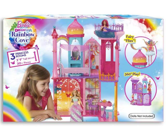 Barbie DreamTop A Rainbow Cove 3 Princess Rooms NRFB