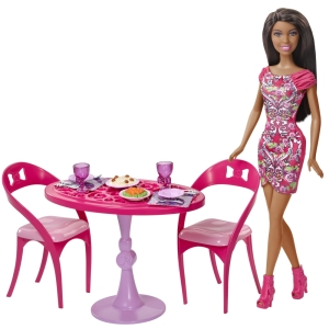 BARBIE® Doll and Dining Set fl