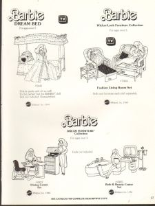 1985 VINTAGE AD SHEET #1247 - MATTEL - BARBIE DOLL - DREAM GLOW BED