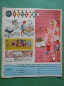 "ORIGINAL, NOT A COPY NOR A REPRINT, SEARS CHRISTMAS NEWSPAPER CATALOG NOV. 28th, 1963, COMPLETE 32 PAGES, 11"" X 12.25""; BACK PAGE AD"