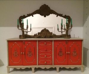 Milady furniture Sideboard with mirror