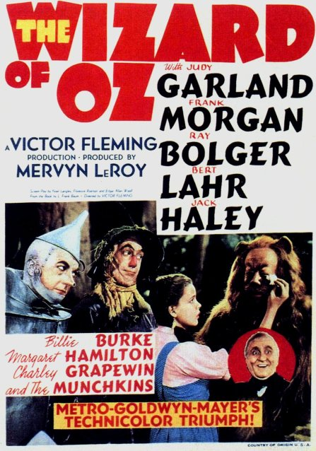 WIZARD OF OZ ORIGINAL POSTER 1939