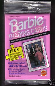 1991 Barbie Trading Cards Pack