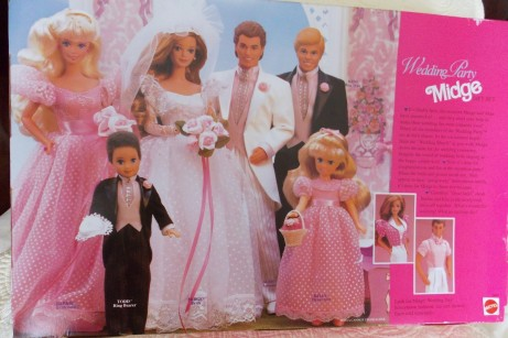 1991 (BD1990) #9852  Wedding Party Midge Giftset NRFB - back box