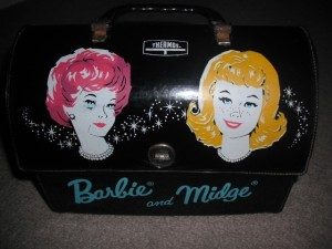 1965 Barbie and Midge Vinyl Dome Lunch Box