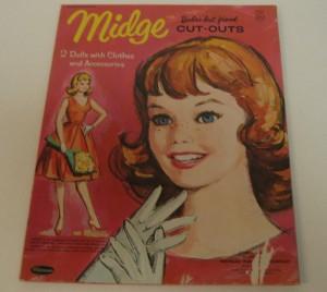 1963 Midge Paper Dolls Cut Outs Book - Whitman