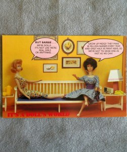 Barbie Doll POSTCARD 1989 #1321 Barbie Midge Furniture