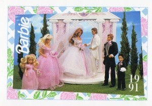 1991 WEDDING DAY MIDGE & ALLEN #286,1991 Mattel Trade** CARD**