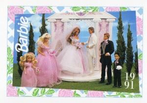 1991 WEDDING DAY MIDGE & ALLEN #286,1991 Mattel Trade** CARD**