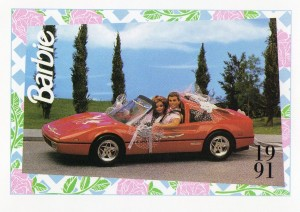 1991 WEDDING DAY MIDGE & ALLEN BARBIE FERRARI #299,1991 Mattel Trade** CARD**