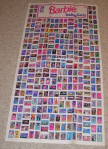 Barbie Trading Cards 1991 Collector Poster Shows all 300 trade cards