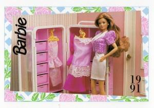 1991 WEDDING DAY MIDGE TROUSSEAU #297,1991 Mattel Trade** CARD**