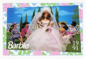 1991 WEDDING DAY MIDGE #285,1991 Mattel Trade** CARD**