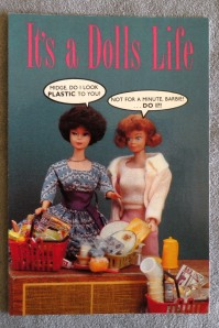 1989 Midge Doll POSTCARD #1305 It's a Dolls Life Barbie Bubblecut / Midge Redhead