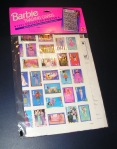 Barbie Trading Cards 1991 Collector Poster Shows all 300 trade cards NRFP