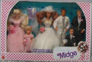 1991 (BD1990) #9852 Wedding Party Midge Giftset NRFB