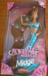 1995 JEWEL HAIR MERMAID MIDGE NRFB