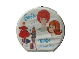 1963 Barbie™ & Midge™ TRAVEL PALS HAT BOX STYLE CASES - variation