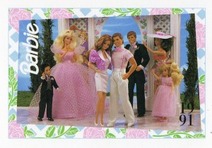 1991 WEDDING DAY MIDGE & ALLEN #298,1991 Mattel Trade** CARD**