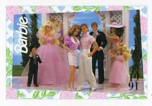 1991 WEDDING DAY MIDGE & ALLEN #298,1991 Mattel Trade** CARD**