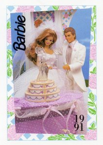 1991 WEDDING DAY MIDGE & ALLEN #294,1991 Mattel Trade** CARD**