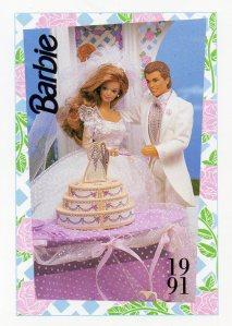 1991 WEDDING DAY MIDGE & ALLEN #294,1991 Mattel Trade** CARD**