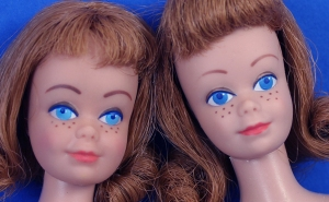 Rare Bright Eyes Midge doll on the left
