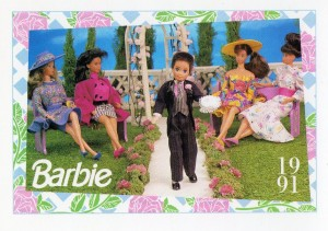 1991 WEDDING DAY MIDGE & ALLEN RING BEARER TODD #283,1991 Mattel Trade** CARD**