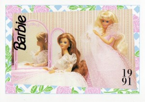 1991 WEDDING DAY MIDGE & BARBIE #281,1991 Mattel Trade** CARD**