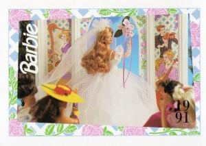 1991 WEDDING DAY MIDGE #295,1991 Mattel Trade** CARD**