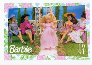 1991 WEDDING DAY MIDGE & ALLEN FLOWER GIRL KELLY #284,1991 Mattel Trade** CARD**
