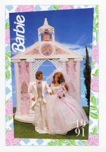 1991 WEDDING DAY MIDGE & ALLEN #287,1991 Mattel Trade** CARD**