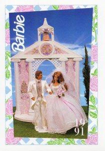 1991 WEDDING DAY MIDGE & ALLEN #287,1991 Mattel Trade** CARD**