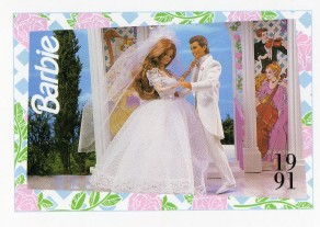 1991 WEDDING DAY MIDGE & ALLEN #293,1991 Mattel Trade** CARD**