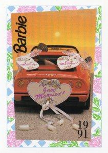 1991 WEDDING DAY MIDGE & ALLEN BARBIE FERRARI #300,1991 Mattel Trade** CARD**