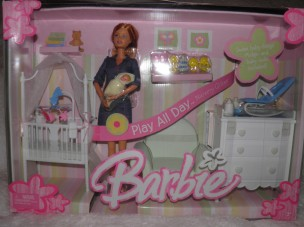 MIDGE AND BABY HAPPY FAMILY BARBIE  PLAY ALL DAY NURSERY GIFTSET