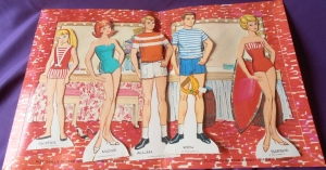 1964 Barbie, Midge and Skipper Paper dolls inside