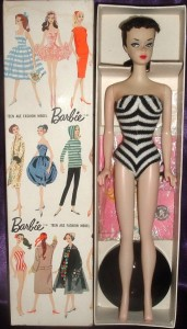 #850 N01 Barbie with ponytail brunette~MIB