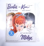 Barbie Ken & Midge Fashion Booklet with White Open Toe shoes