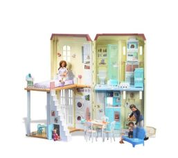 Happy Family Neighborhood Sounds Like Home Smart Interactive Doll House f