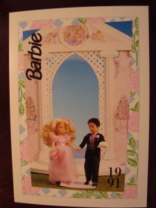 1991 WEDDING DAY MIDGE & BARBIE #282,1991 Mattel Trade** CARD**