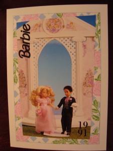 1991 WEDDING DAY MIDGE & BARBIE #282,1991 Mattel Trade** CARD**
